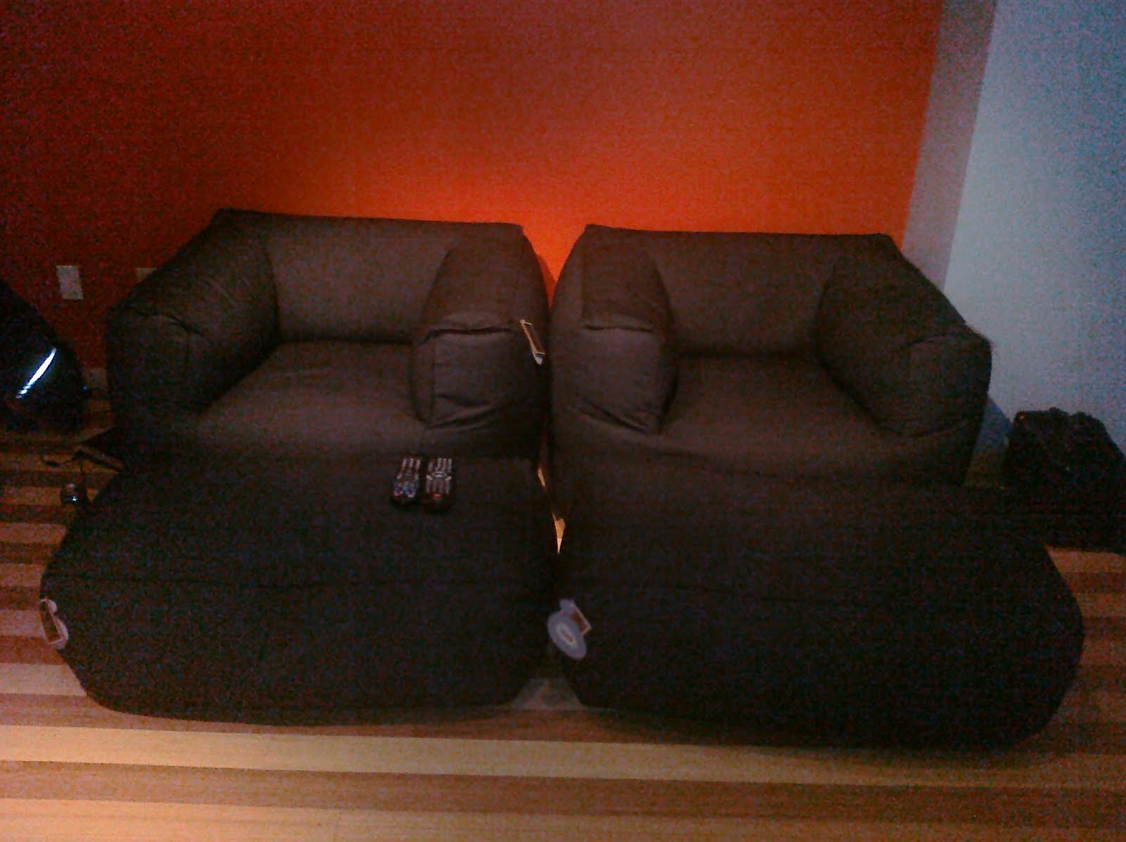 new bean bag chairs for the media room