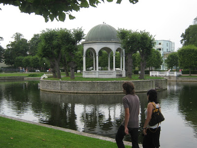rotunda on island in public lake in Tallinn Estonia