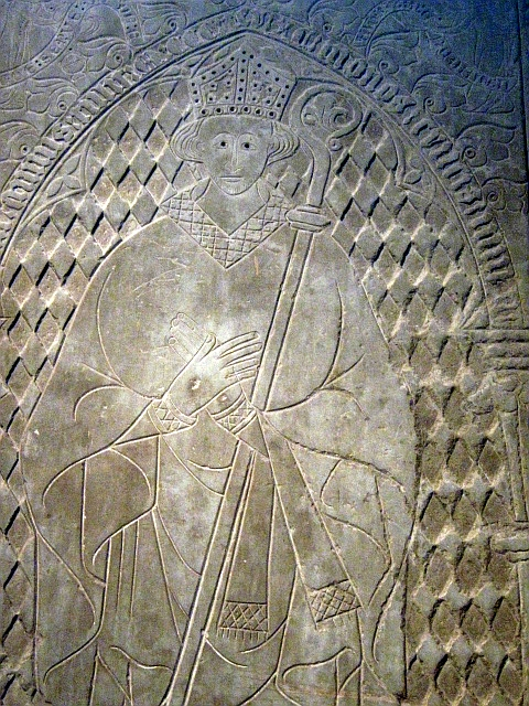 photo of stone carving in Linköping cathedral sweden by Susan Wellington