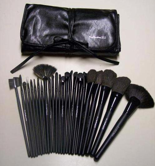 wholesale makeup brushes Mac Makeup Brush Set 19 pcs [MAC 19 Brush Set .