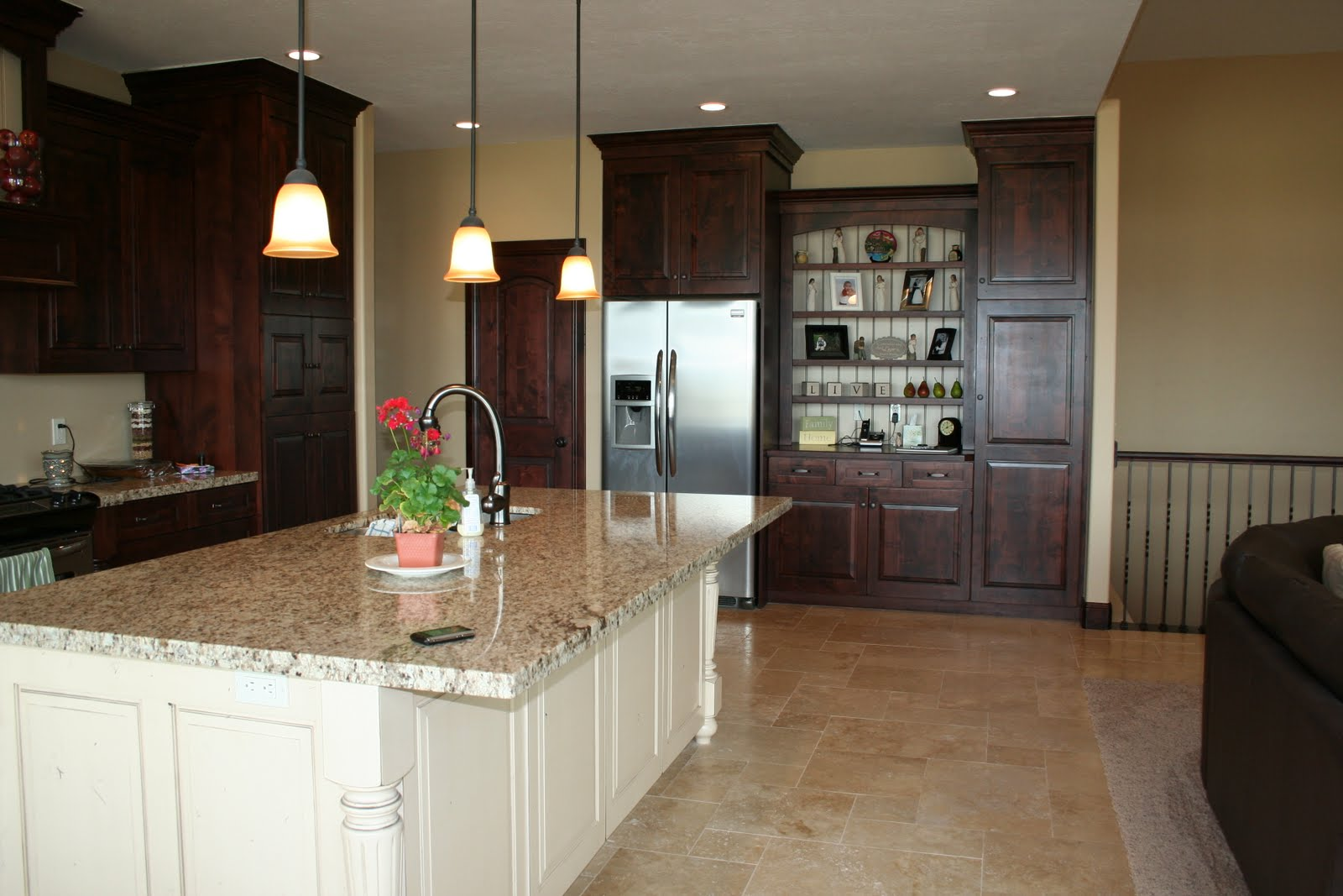 White Kitchens with Dark Cabinets and Trim