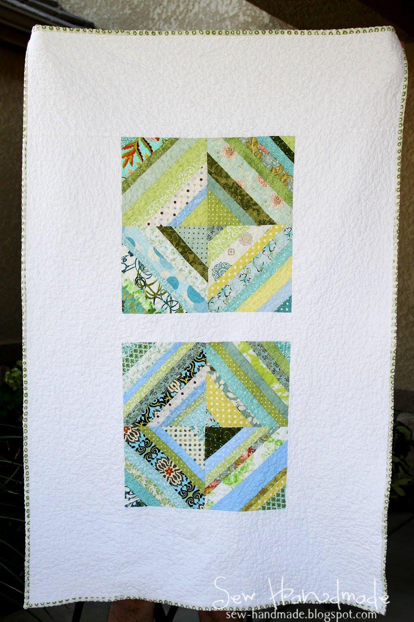 Sew Handmade: Blue & Green String Quilt