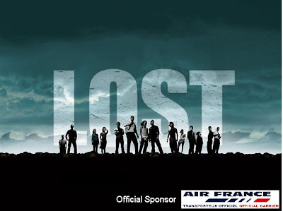 Picture of Lost TV Series poster with Air France logo added at the bottom as an offical sponsor.