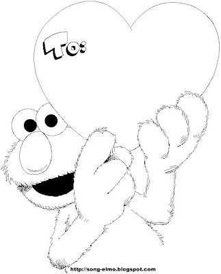 Elmo Coloring Pages Birthday. ELMO PARTY FAVOR COLORING