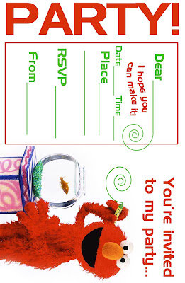 How cute are these free, printable Elmo party invitations?