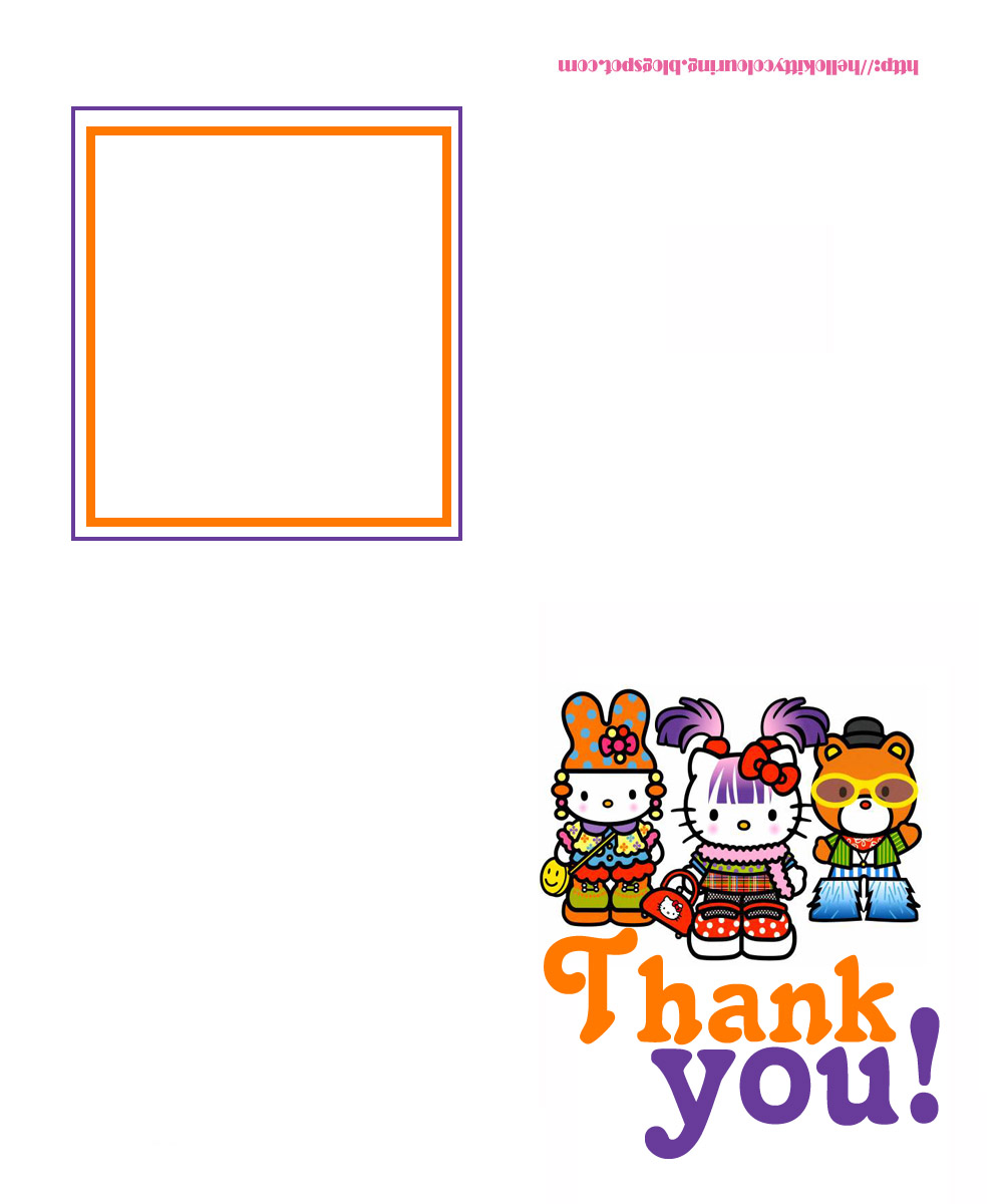 Hello Kitty Thank You Coloring Pages : Hello kitty coloring pages