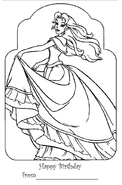 Free Printable Coloring Pages Colorings Net Happy Birthday Princess Coloring Pages Printable
