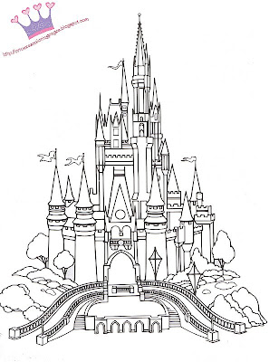 TO PRINT THE IMAGE - CLICK ON Sleeping Beauty Castle Coloring Pages
