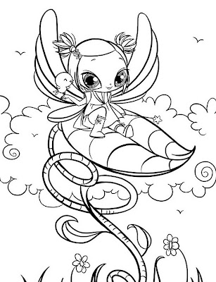 Fairy Coloring Pages on Bratz Colouring Pages For Girls
