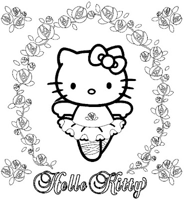 Hello Kitty And Friends Coloring Pages. Here is Hello Kitty dressed as