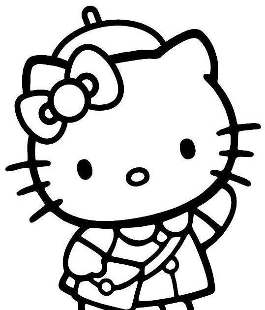 Hello Kitty Coloring Pages With Crayons : Interactive magazine hello kitty back to school coloring page
