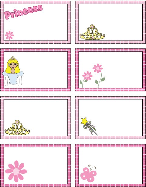 Disney Princess Name Tags Printable