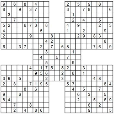 Influential image with regard to printable samurai sudoku