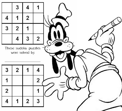 sheet with which to introduce your children to solving sudoku puzzles.