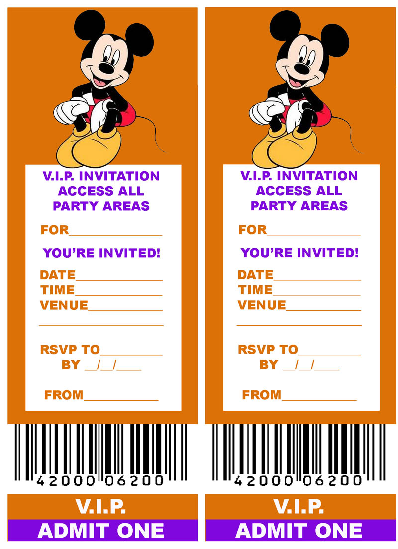 VIP TICKET STYLE PARTY INVITATION FREE AND PRINTABLE