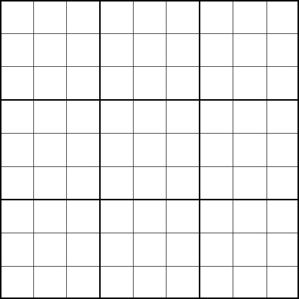 Divine image with regard to blank sudoku printable