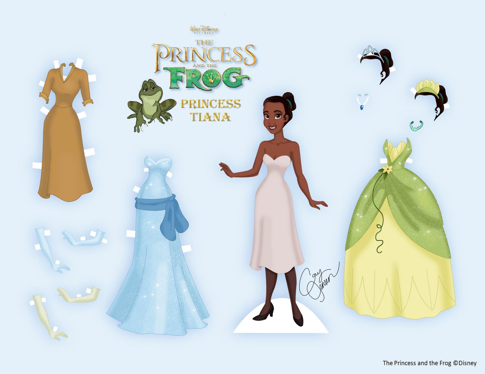 Princess coloring pages brings you a gorgeous princess tiana paper