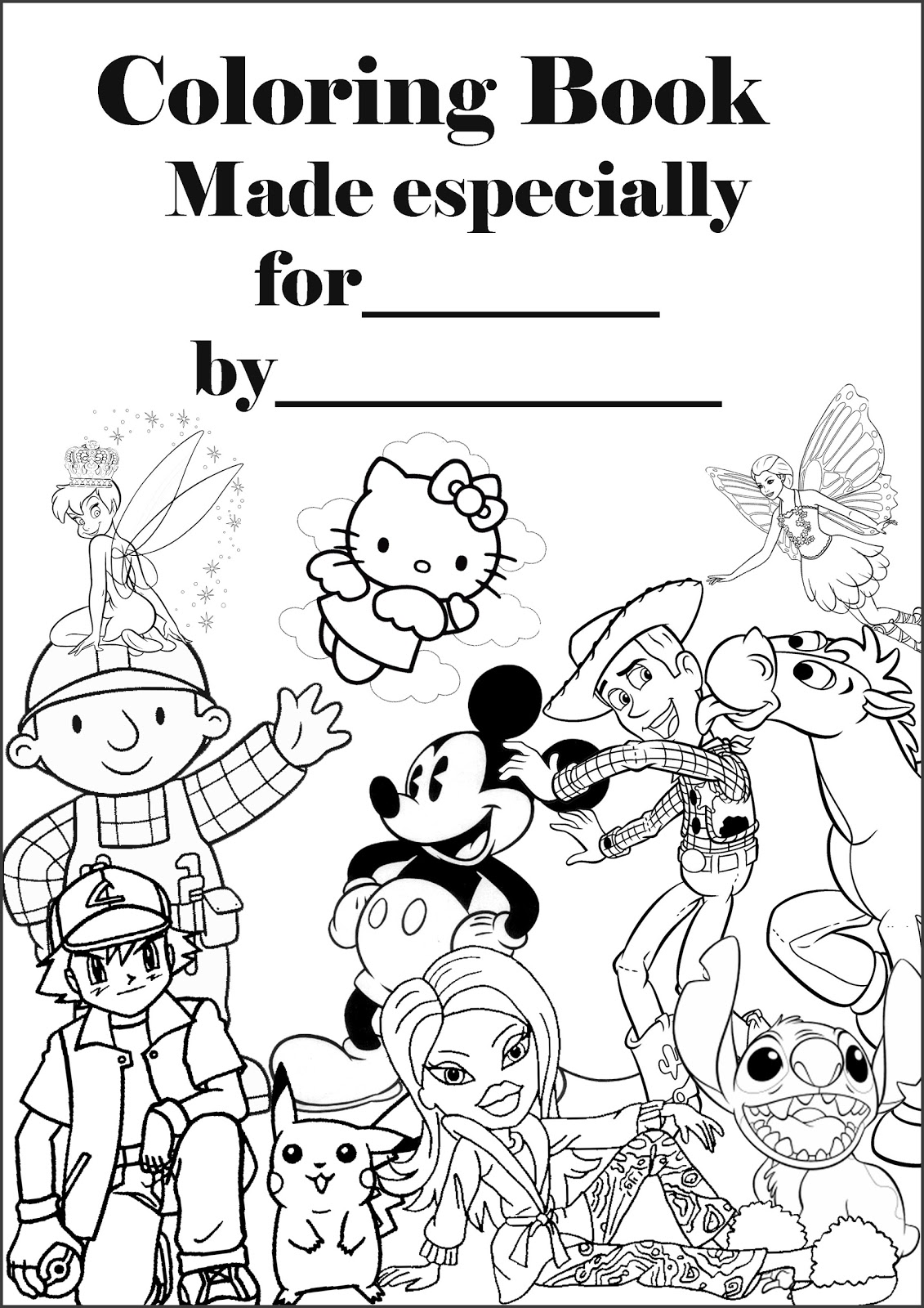 PERSONALISED COLORING BOOK COVER
