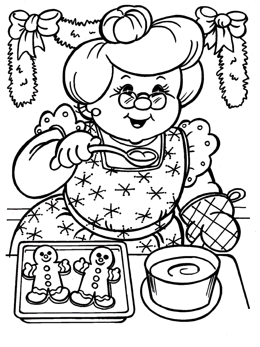 santa claus house coloring pages - photo#36