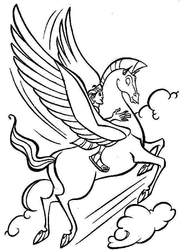 pegasus coloring page - disney coloring pages