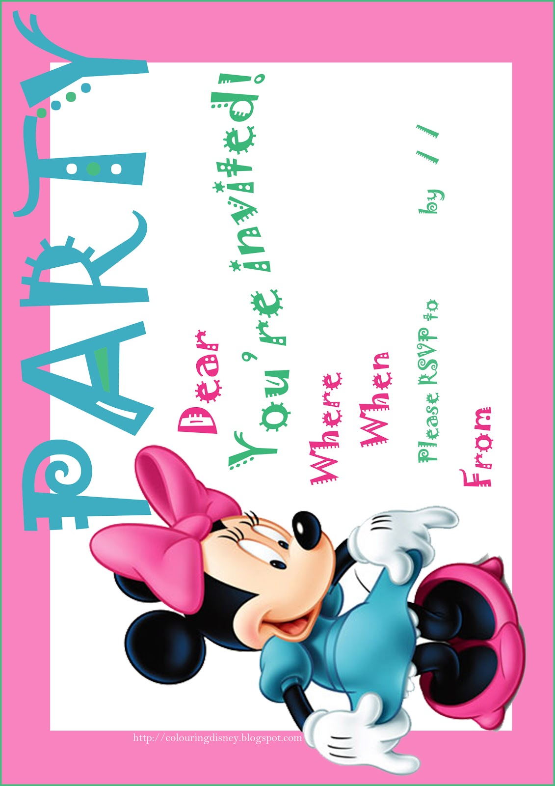 FREE PRINTABLE MINNIE MOUSE BIRTHDAY PARTY INVITATION