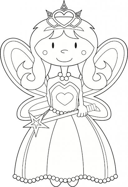 Alphabet Fairy Coloring Pages For Adults