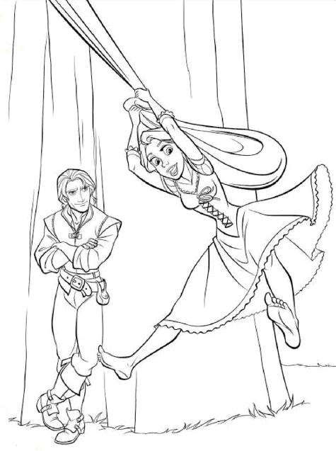 rapunzel coloring pages tangled. TANGLED COLORING PAGES OF DISNEY'S PRINCESS RAPUNZEL