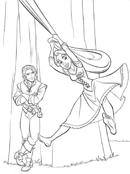 Tangled Flynn Rider Coloring Pages