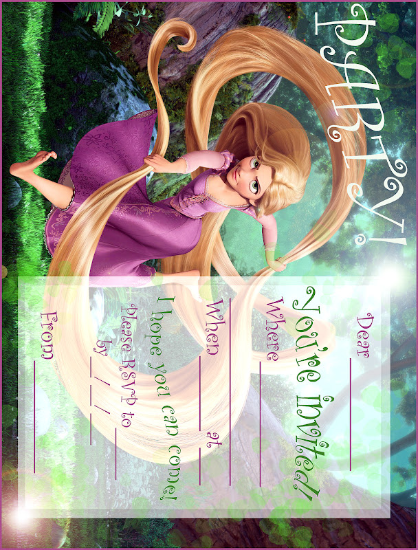 DISNEY'S TANGLED PRINTABLE PARTY INVITATION - FREE title=