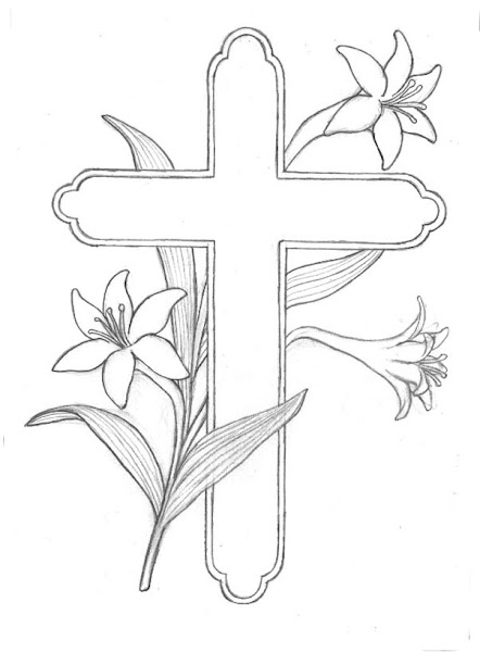Free Printable Easter Cross Coloring Pages