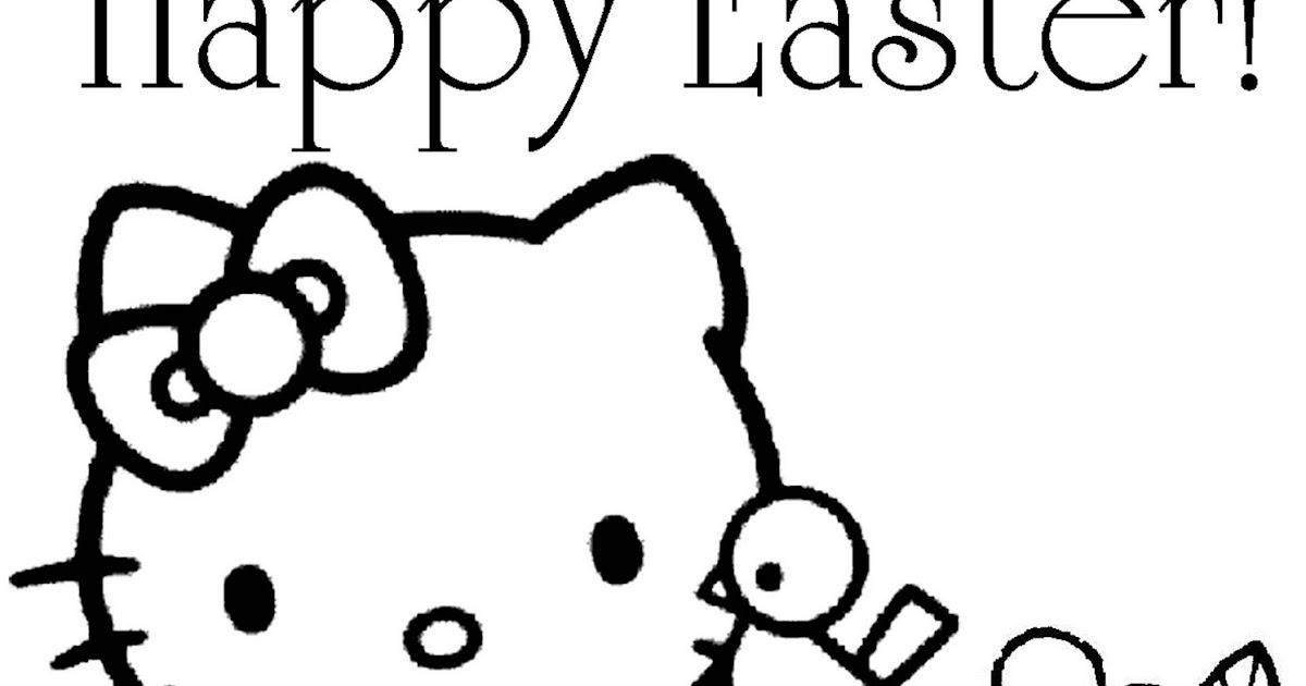 Hello Kitty Rainbow Coloring Pages : Free printable m easter poem colorings