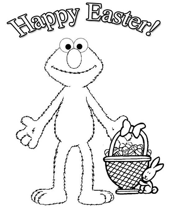 Elmo Easter Coloring Pages