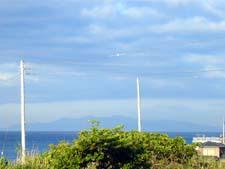 平砂浦から伊豆大島