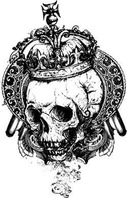 crown skull tattoos