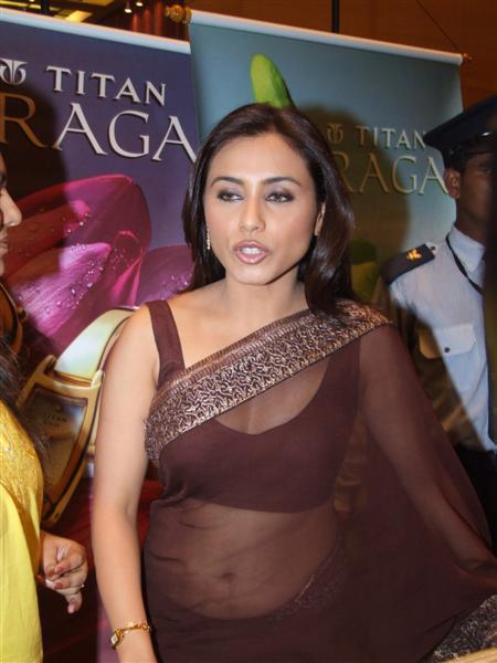 Rani mukherjee hot transparent saree join