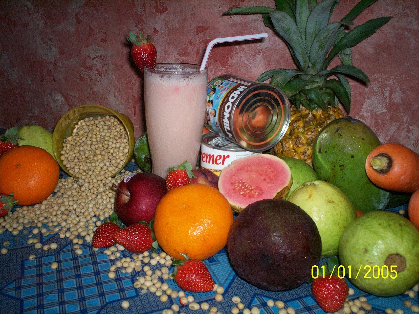 Sari Dele Milk Shake dgn Aneka Buah Segar