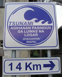 Siargao Island Tsunami notice