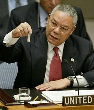 Powell lying through his teeth at UN Feb 2003