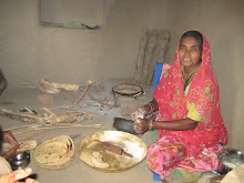 INDIA:  Buri-Bei teaching us how to make Roti