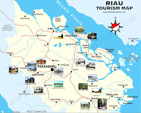 Riau Tourism Map