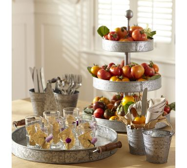 Swanky Chic Fete Tiered Tray Servers Party Accessories