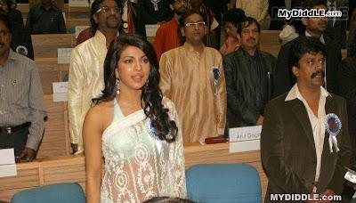 Priyanka Chopra in A Backless Transparent Saree  56th National Film Awards image