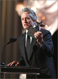 Tears and kisses from Michael Douglas at AFI tribute