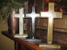 handmade wooden crosses;  $20