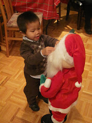 Alexandre with Santa