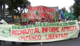 MOVILIZACIÓN DE PUEBLOS INDÍGENAS 22 DE FEBRERO: AIDESEP - FRENVIDAS