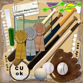 Baseball Embellishments - By: Creation Miguy Design Miguy_Design_Baseball_Preview1