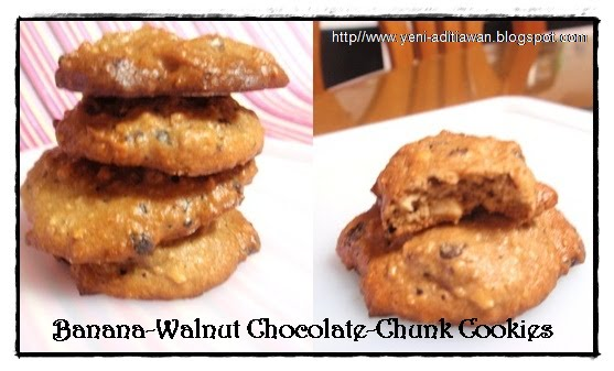 Cook and Cake : Banana-Walnut Chocolate-Chunk Cookies