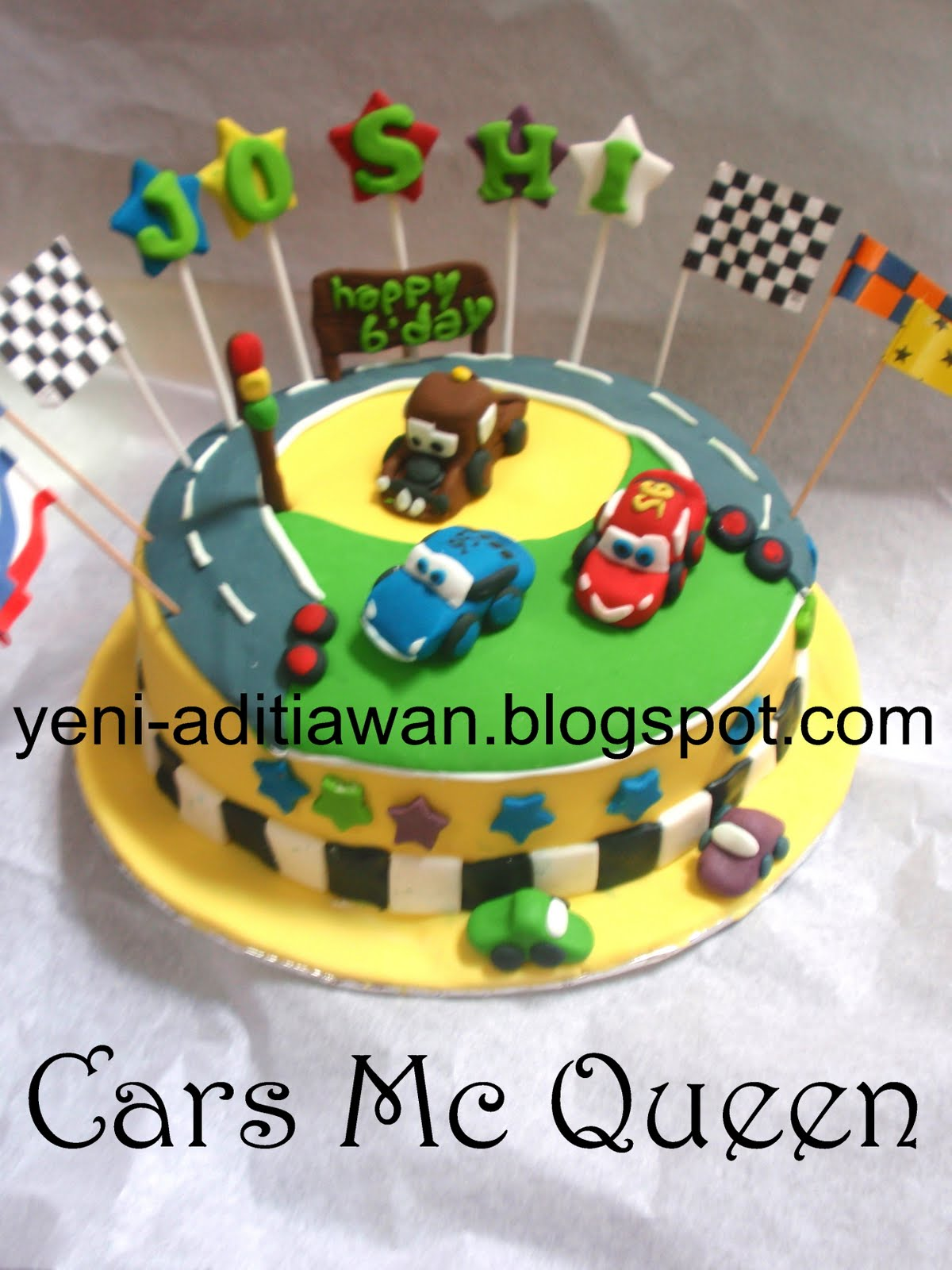 Cook And Cake Lightning Mc Queen Cars Birthday Cake