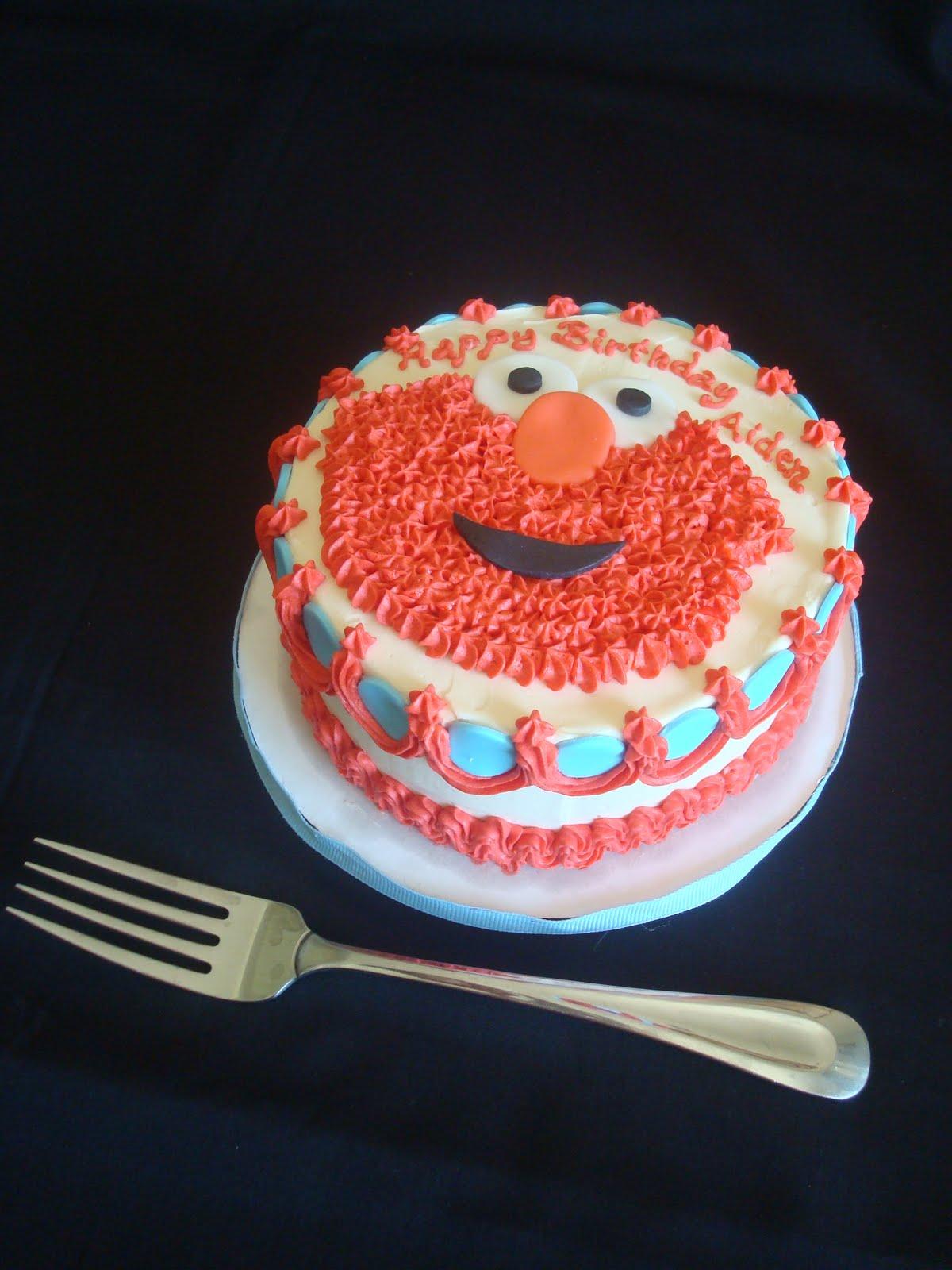 Pink Little Cake Elmo Cake Elmo Cookie Favors And Mini Elmo Cake